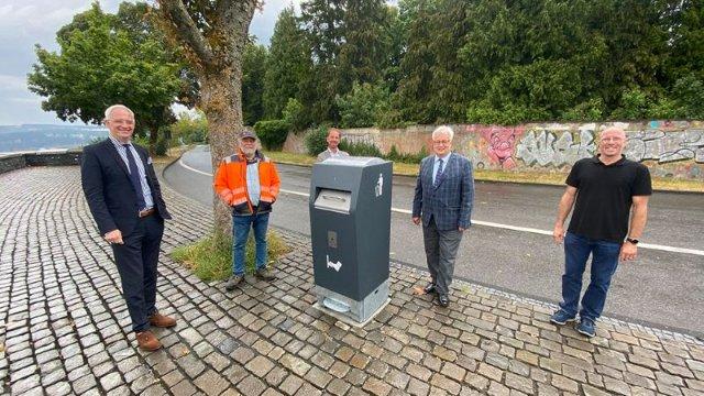 Zwei neue Solar-Hightech Mülleimer in Trier-Image
