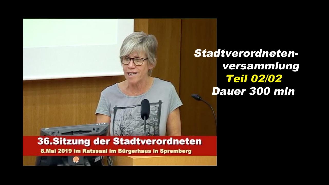 36. Sitzung der Stadtverordnetenversammlung Spremberg 2-2