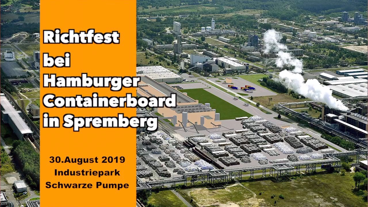 Richtfest bei Hamburger Containerboard in Spremberg