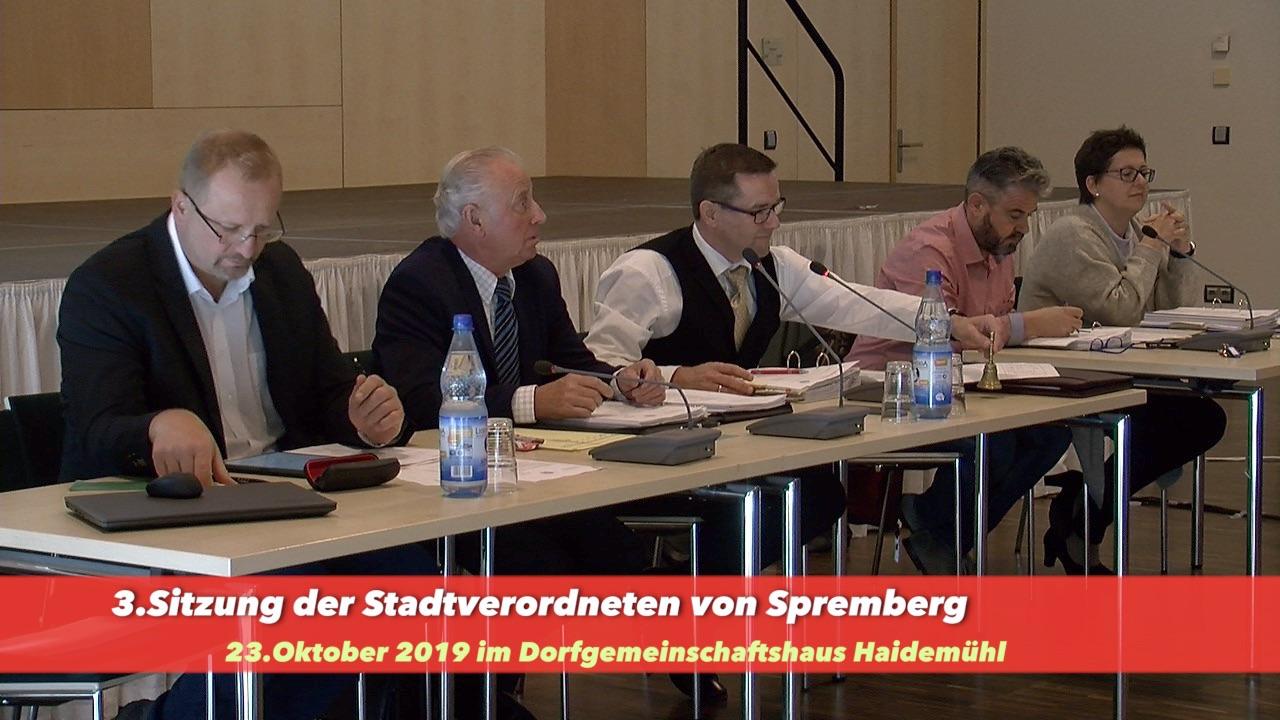 3. Sitzung der Stadtverordnetenversammlung der Stadt Spremberg