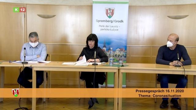 Pressegespräch zur Corona-Pandemie in Spremberg