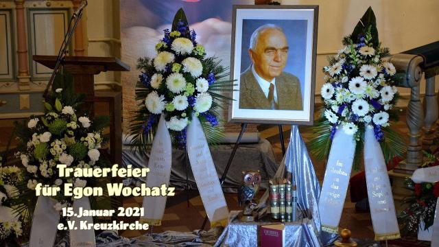 Trauerfeier für Egon Wochatz