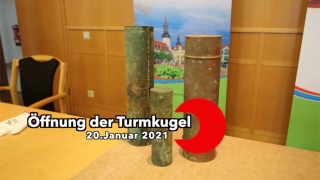 Turmkugelöffnung des Rathausturmes