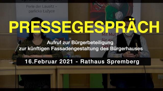 Pressegespräch Fassadengestaltung am Bürgerhaus