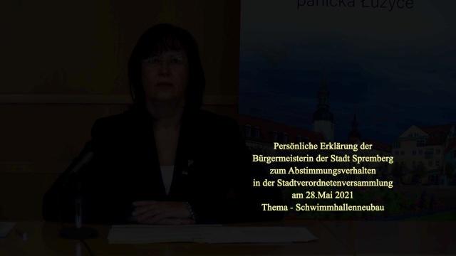Persönliche Erklärung der Bürgermeisterin
