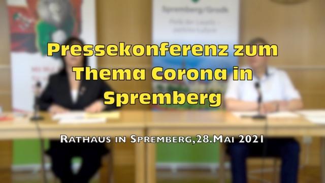 Pressekonferenz Corona in Spremberg