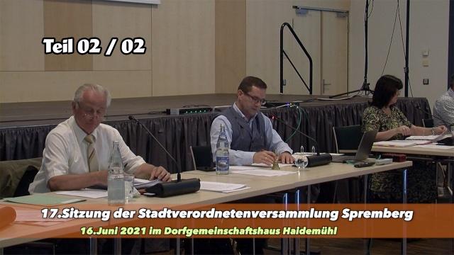 17.Stadtverordnetenversammlung 16.6.2021- Teil 02/02