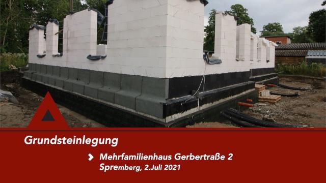 Grundsteinlegung in der Gerberstraße 02