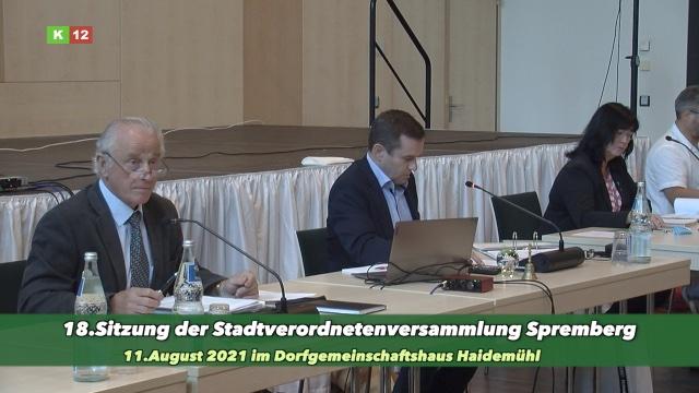 18. (außerplanmäßige) Sitzung der Stadtverordnetenversammlung