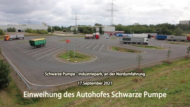 Einweihung des Autohofes Schwarze Pumpe