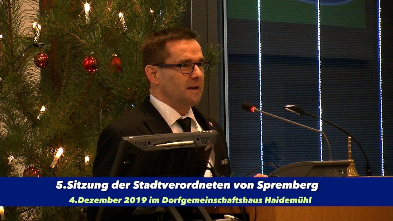 5.Sitzung der Stadtverordneten von Spremberg