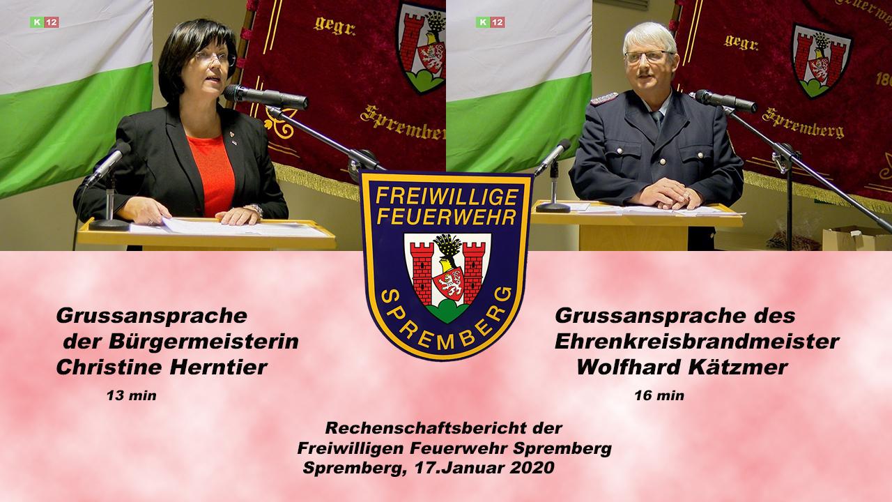 Grussansprachen Bürgermeisterin & Ehrenbrandmeister