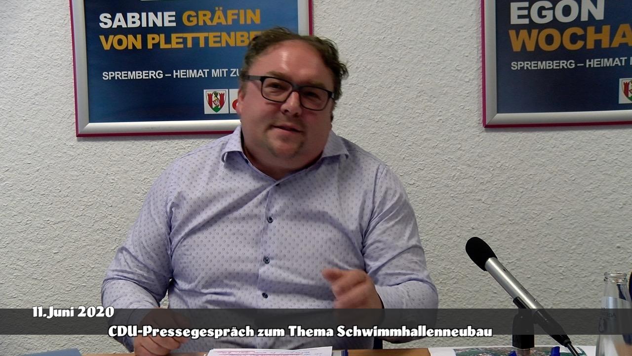 Pressegespräch der CDU-Fraktion zum Thema Schwimmhallenneubau