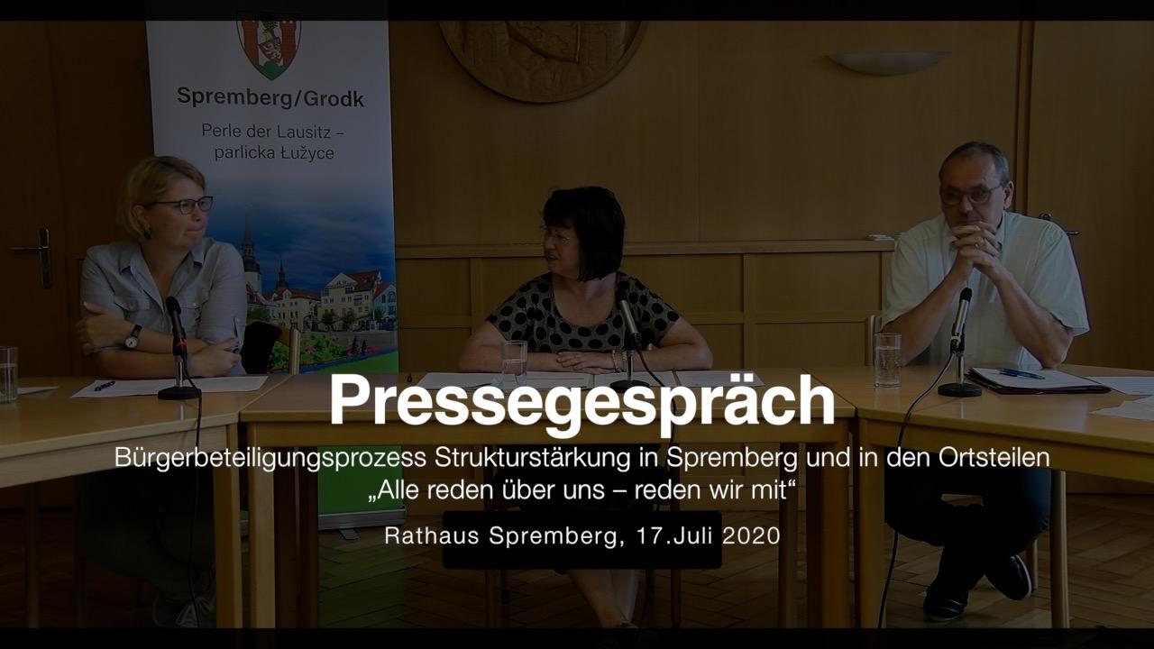 Pressegespräch Bürgerbeteiligungsprozess Strukturstärkung in Spremberg