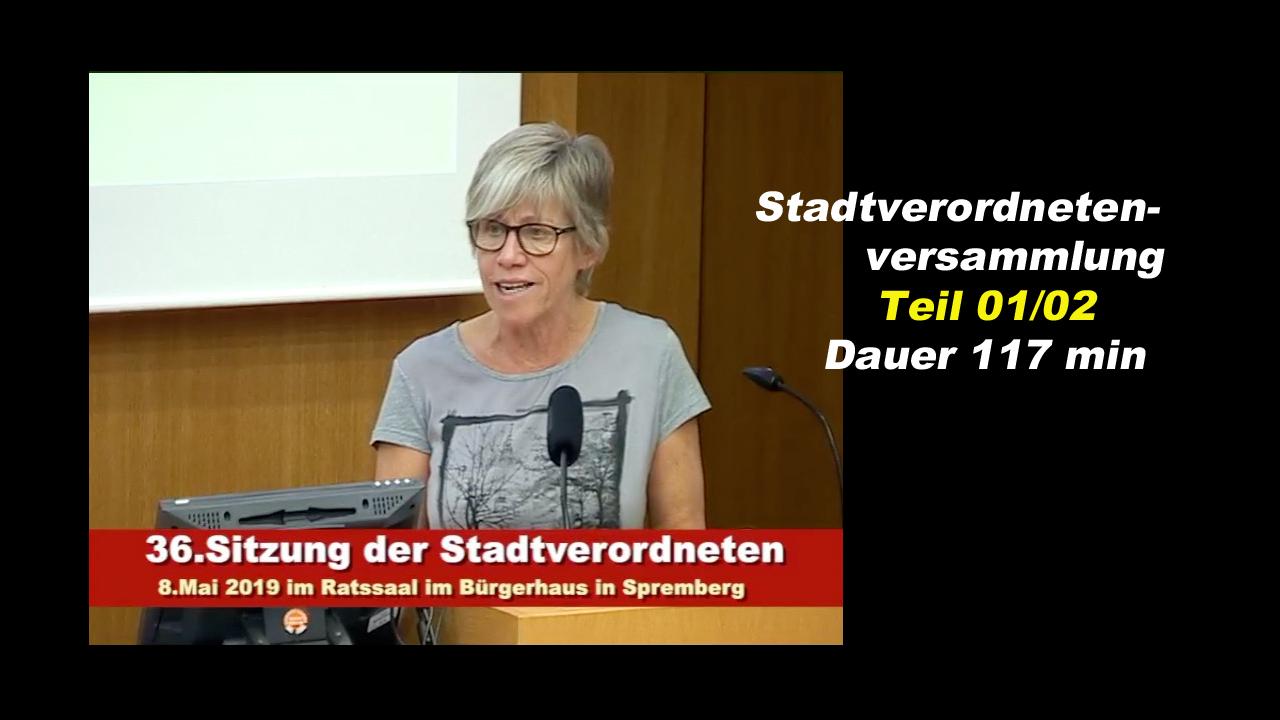 36. Sitzung der Stadtverordnetenversammlung Spremberg 1-2