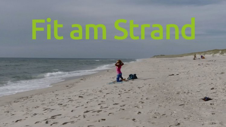 Fit am Strand