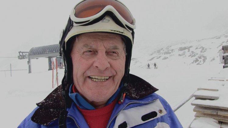 Walter Kuchler (85) fährt Ski