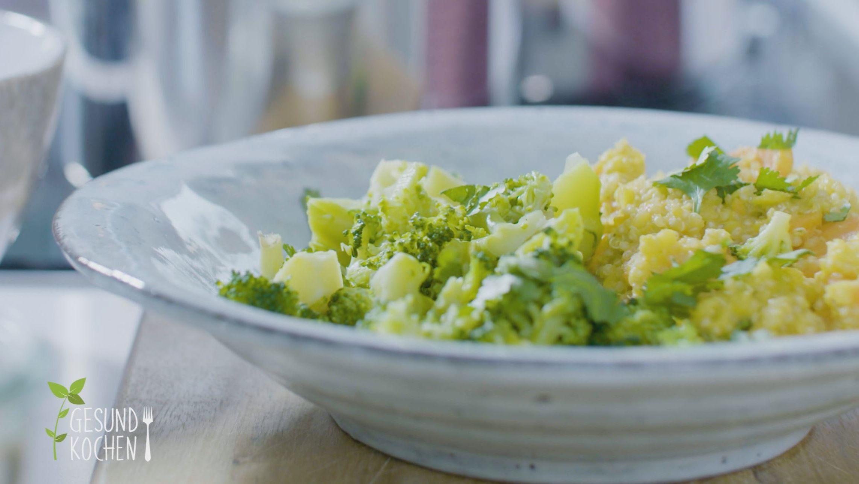 Gesund kochen - ohne Zucker:  Joghurt mit Granola, Avocado-Ei-Salat und Kitchari