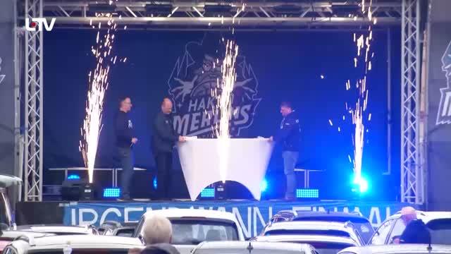 Crailsheim Merlins feierten mit Fans einen etwas anderen Saisonabschluss