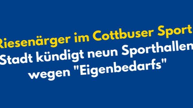 Ärger im Cottbuser Sport-Image