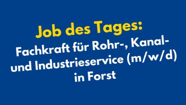 Fachkraft für Rohr-, Kanal- und Industrieservice (m/w/d)-Image