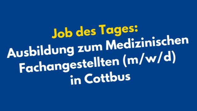 Ausbildung zum Medizinischen Fachangestellten (m/w/d)-Image