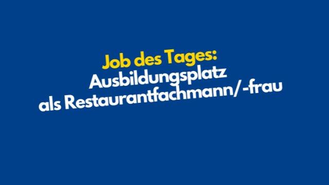 Ausbildungsplatz als Restaurantfachmann/-frau-Image