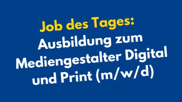 Ausbildung zum Mediengestalter Digital und Print (m/w/d) -Image