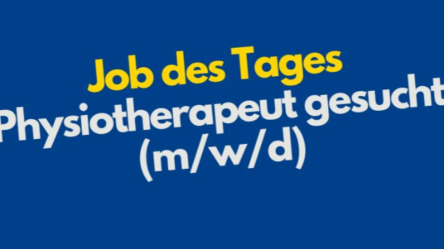 Physiotherapeut gesucht-Image