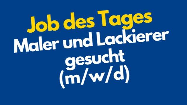 Maler/Lackierer gesucht-Image
