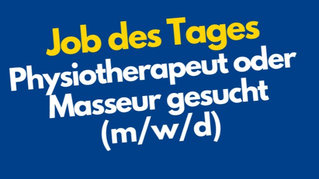 Physiotherapeut/in oder Masseur/in-Image