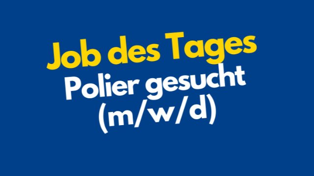 Polier gesucht-Image