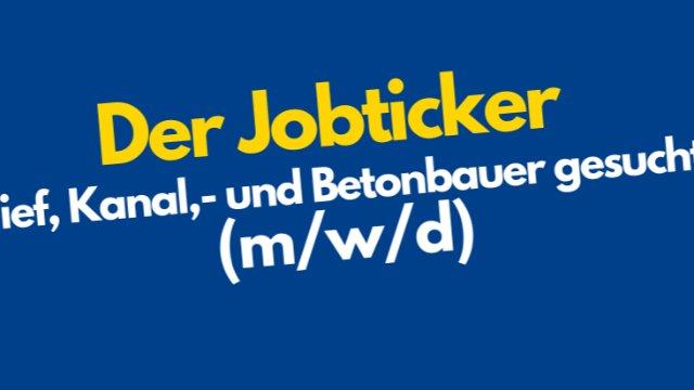 Tief,- Kanal,- und Betonbauer gesucht (m/w/d)-Image