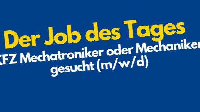 Mechatroniker oder Mechaniker gesucht!-Image