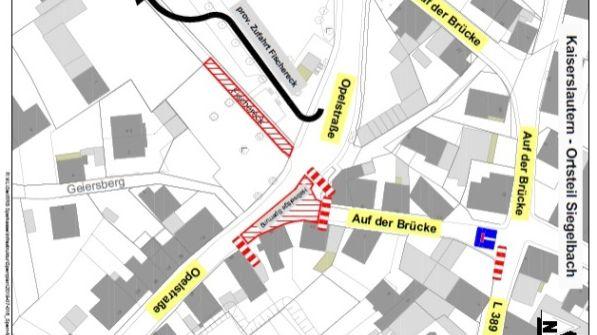 Straßensperrung in Siegelbach Ende Juli-Image