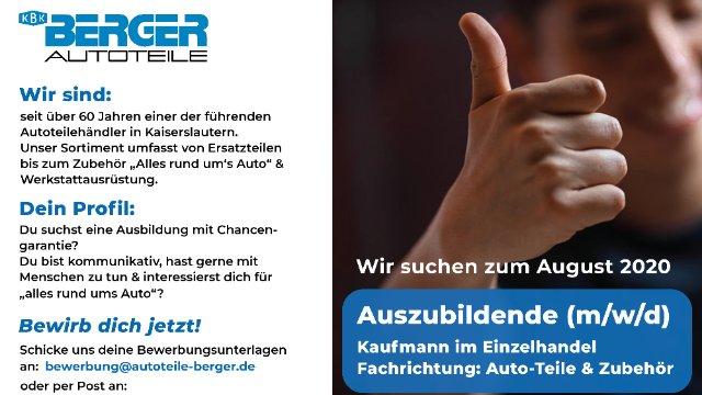 Autoteile Berger sucht Auszubildende (m/w/d)-Image