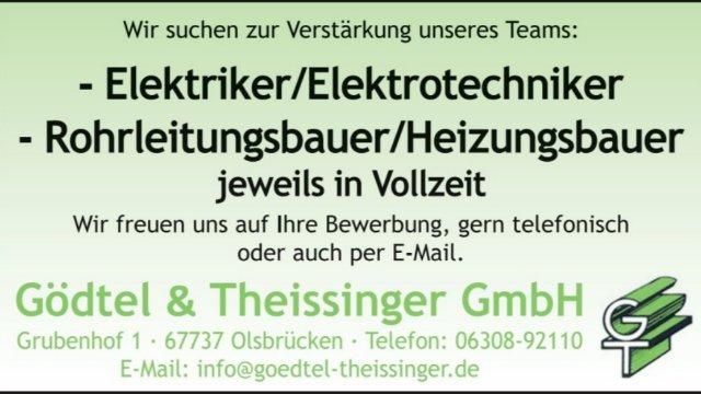 Gödtel & Theissinger GmbH sucht Elektriker und Heizungsbauer-Image