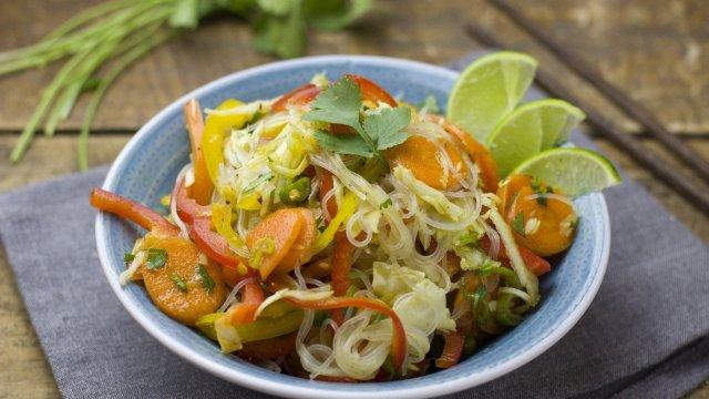 Glasnudel-Tintenfisch-Salat mit Zitronengras-Sauce-Image