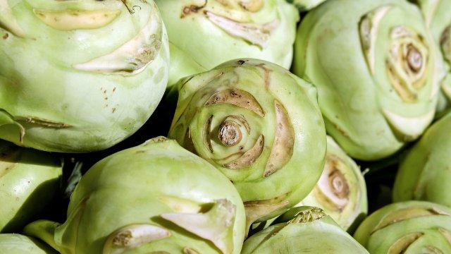 Bachsaiblingsfilet mit Kartoffelstampf und Kohlrabi- Estragon- Schnittlauch und Zitrus-Butter-Image